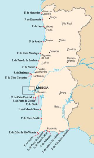 mapa cabos de portugal Faróis de Portugal – Wikipédia, a enciclopédia livre | Geografía  mapa cabos de portugal