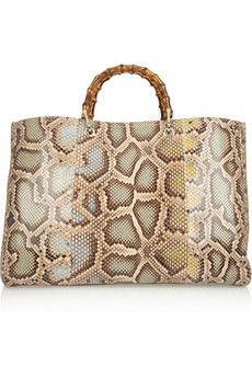 a8b7a4d13f537 Gucci Bamboo Shopper large python tote
