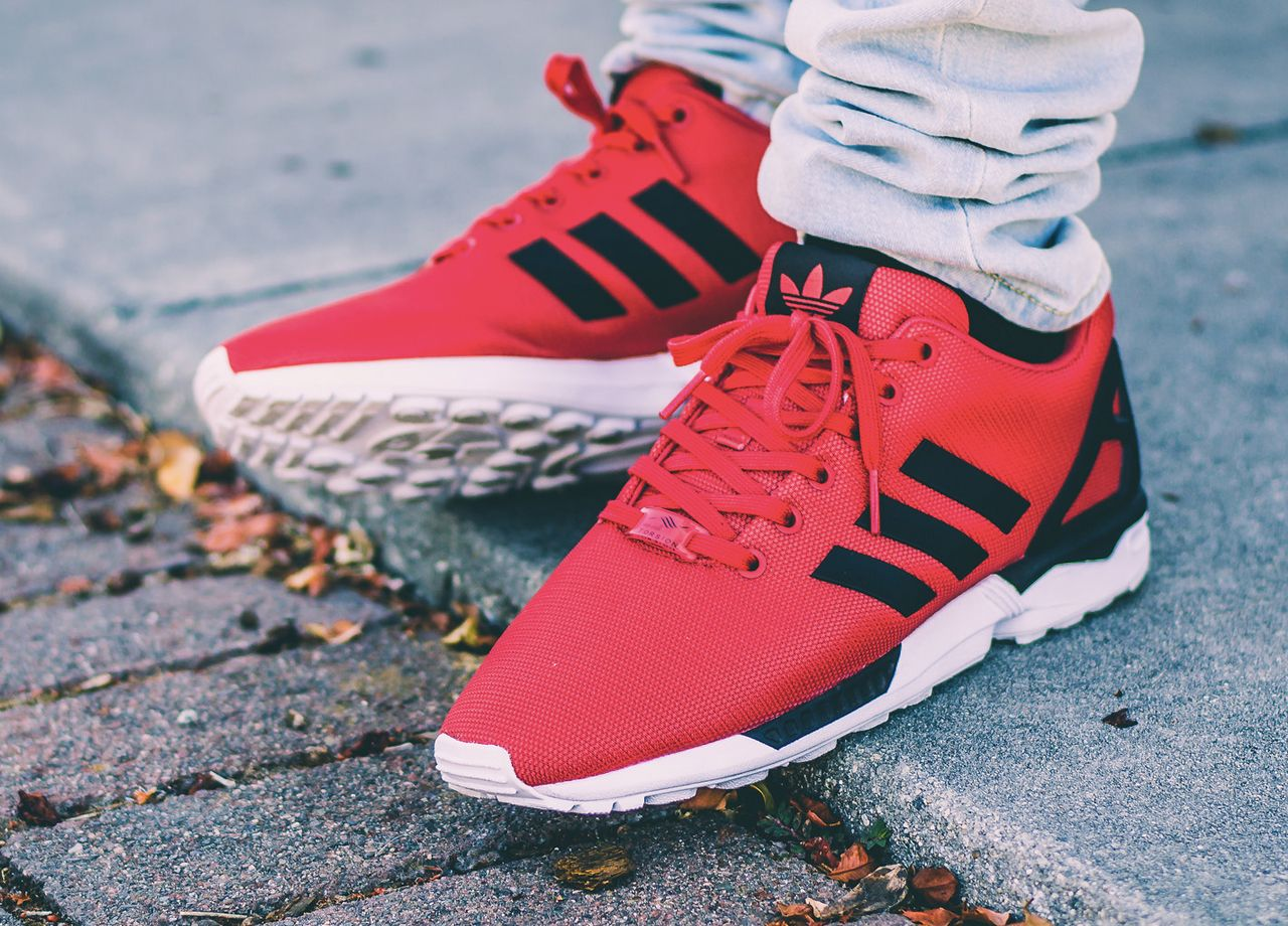 huge selection of 58285 6512d Adidas ZX Flux Poppy Red (by @tonydiamonds) | Adidas ...
