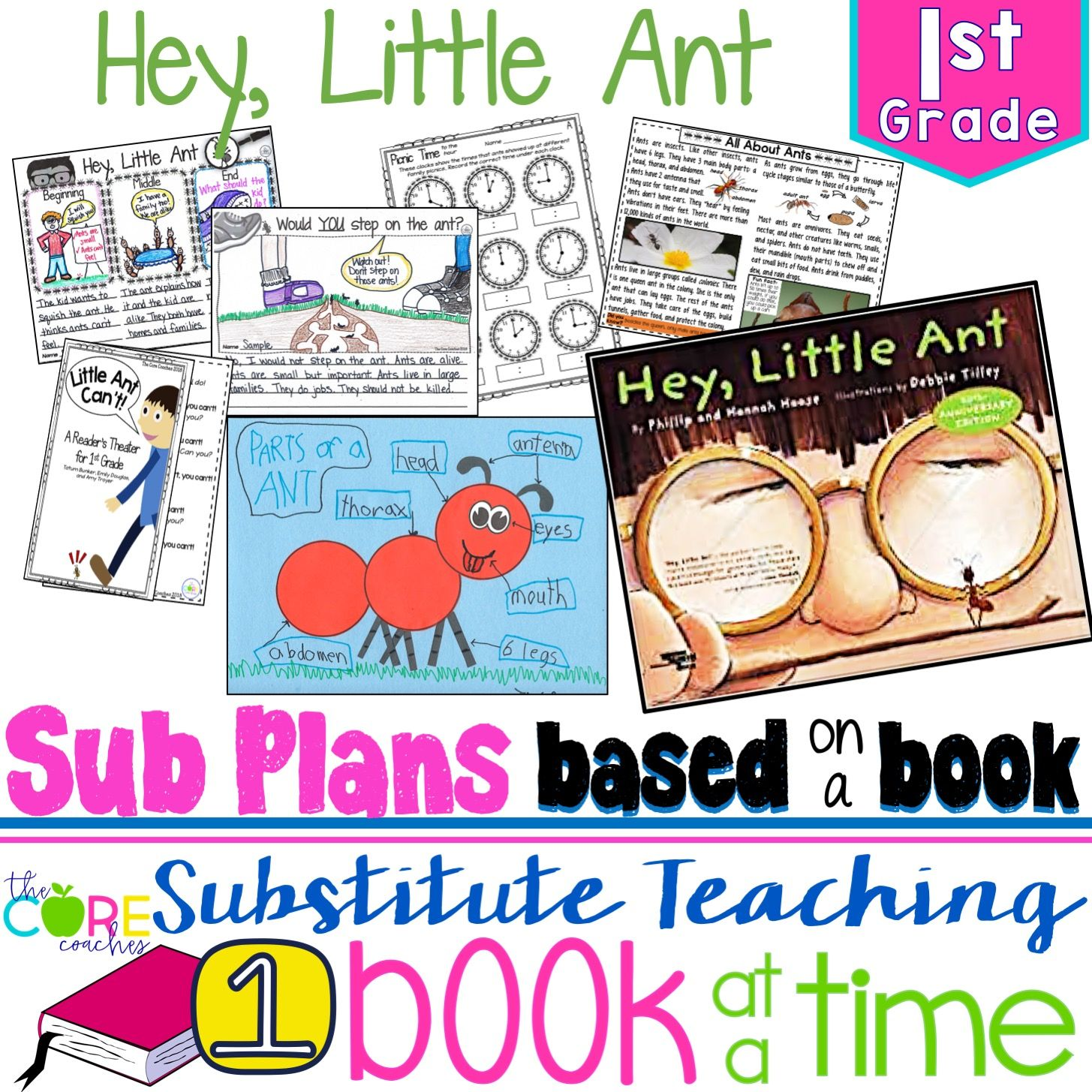 Teach ELA, math, science, social studies, P.E., art and more with these full-day sub plans!