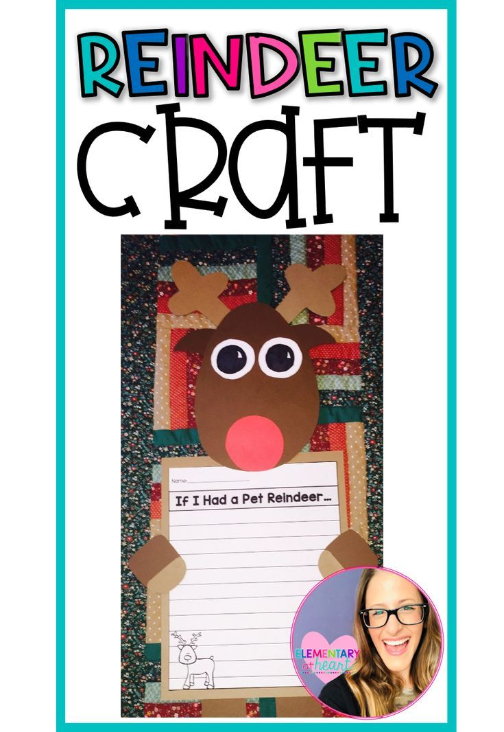 Christmas Reindeer Writing Craft This adorable writing craft will get your kiddos in the holiday spirit Fun for everyone Included  Craft Templates and Directions  2 Graph...