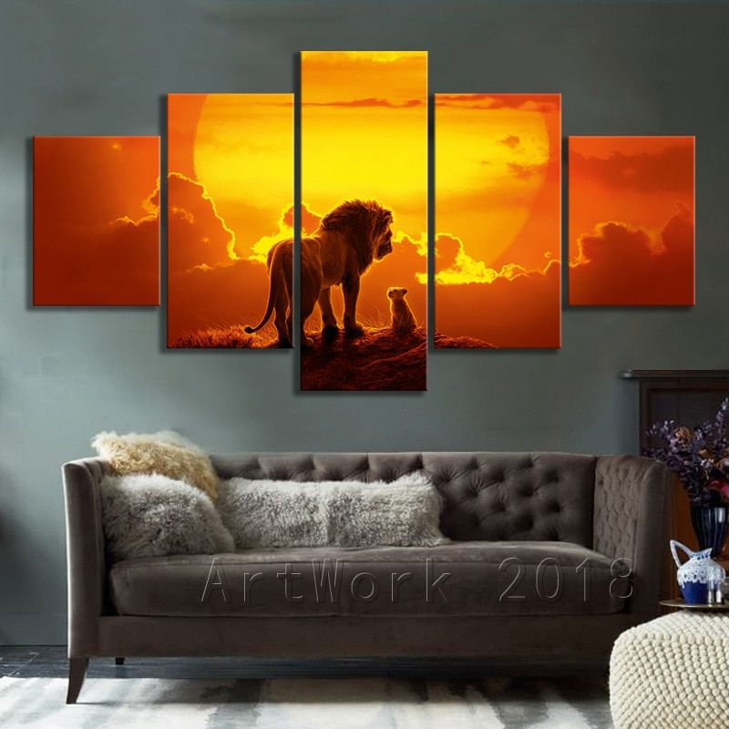 The Lion King Movie Posters And Prints Wall Art Canvas Painting Animal Picture Wall Art For Living Room Home Decor No Frame Wall Art Canvas Painting Wall Art Decor Living Room
