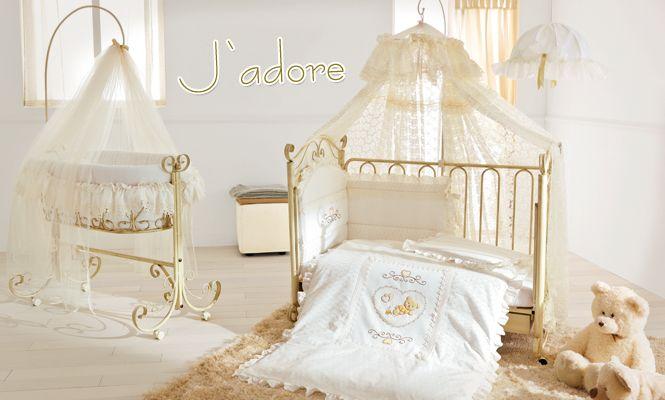 Luxus Babymöbel Baby Wiege J\'adore im Retro Design mit Kinderbett ...