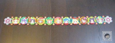 アイカツ アイロンビーズ クリスマス tapestry2b
