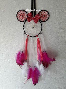 Attrape Reves Minnie Attrape Reves Disney Idee Cadeau Sympa Cadeau Original Fabrication Artisanale Www At Deco Disney Activite Manuelle Disney Attrape Reve