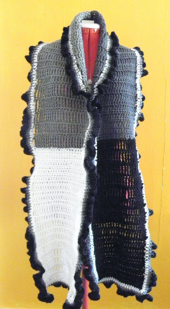Lovely black white and grey handmade crochet by IHeartHooking, $20.00