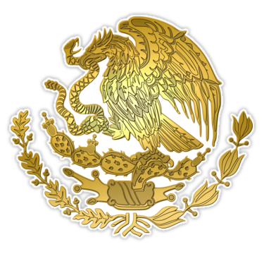 Gold Mexico Coat Of Arms Sticker By Rebeldeshirts In 2021 Mexican Art Tattoos Coat Of Arms Mexico Tattoo
