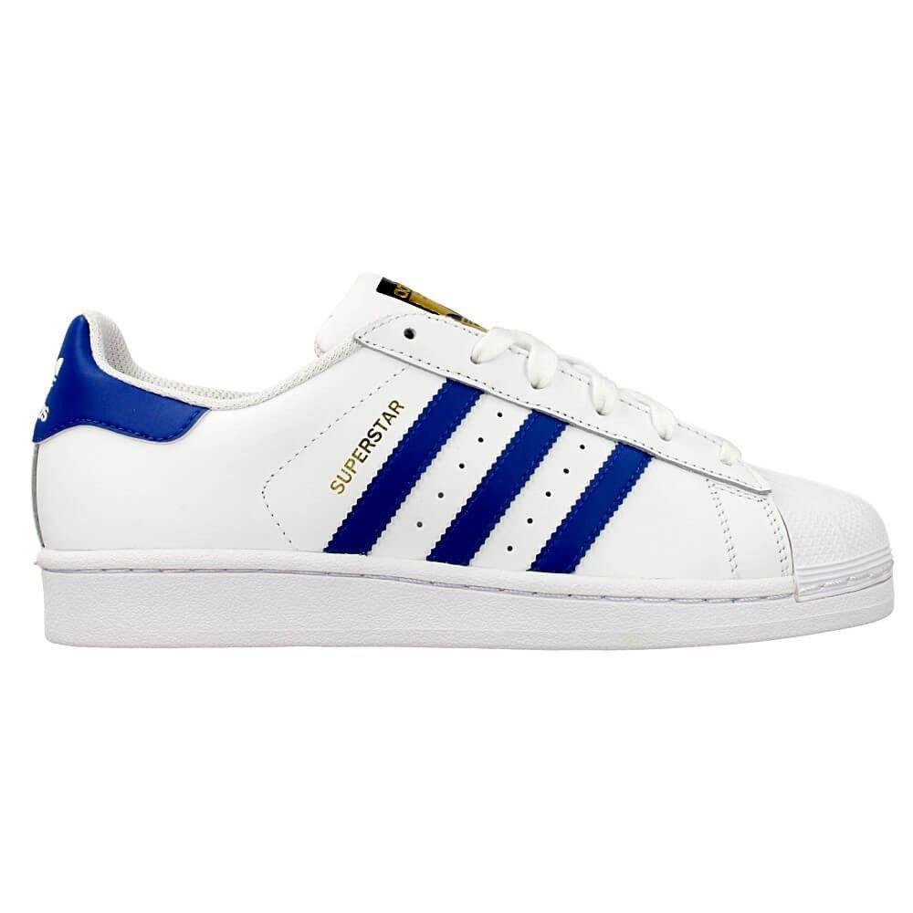 98ff7e5f9d37 Adidas Superstar Pas Cher Homme Femme Cuir Blanche Noir Baskets ...