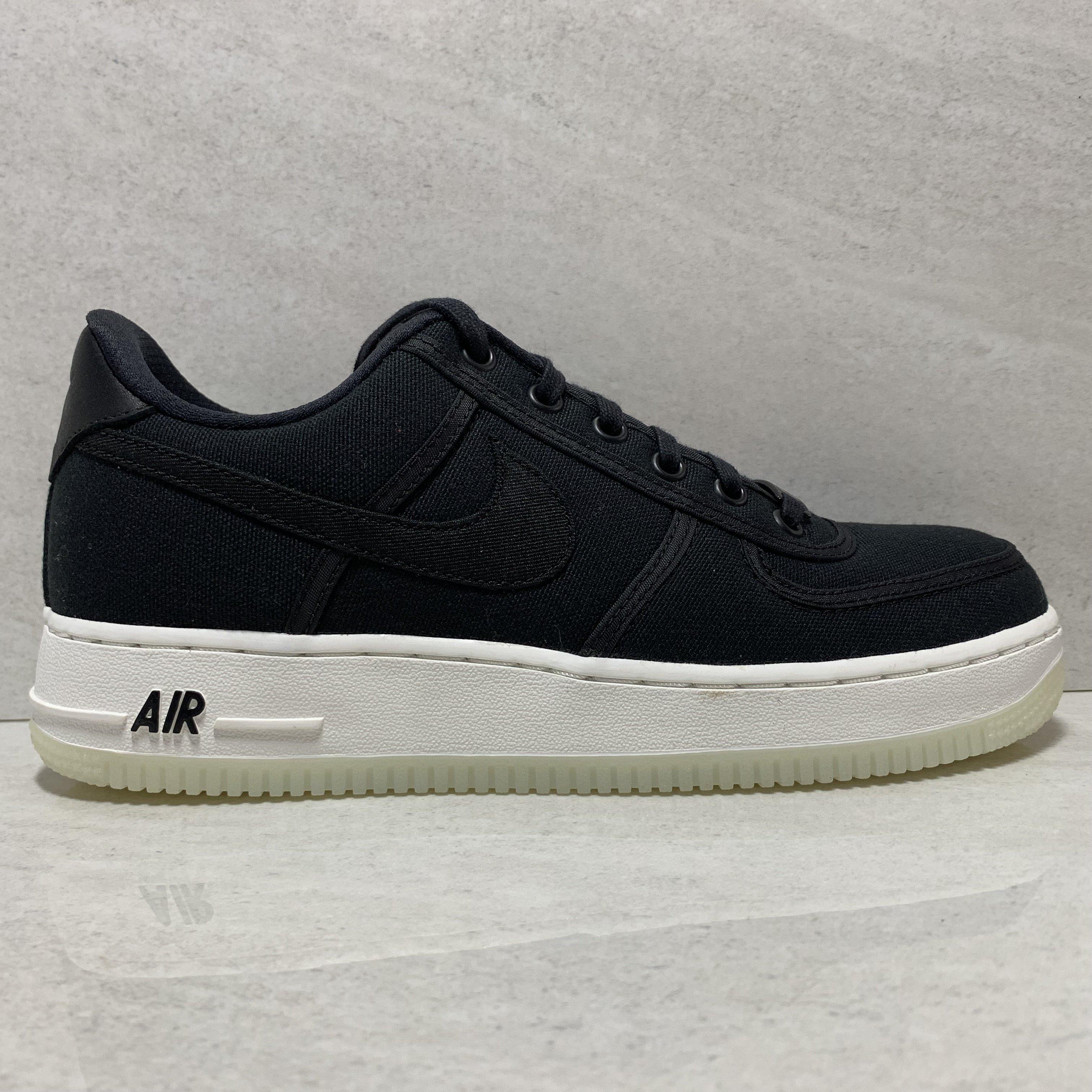 Nike air force 1 low retro qs size 7.5 black canvas ah1067