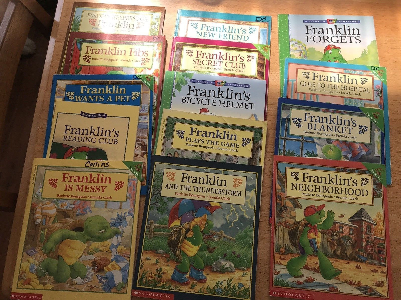 14 Franklin the Turtle Picture Books Paulette Bourgeois ...