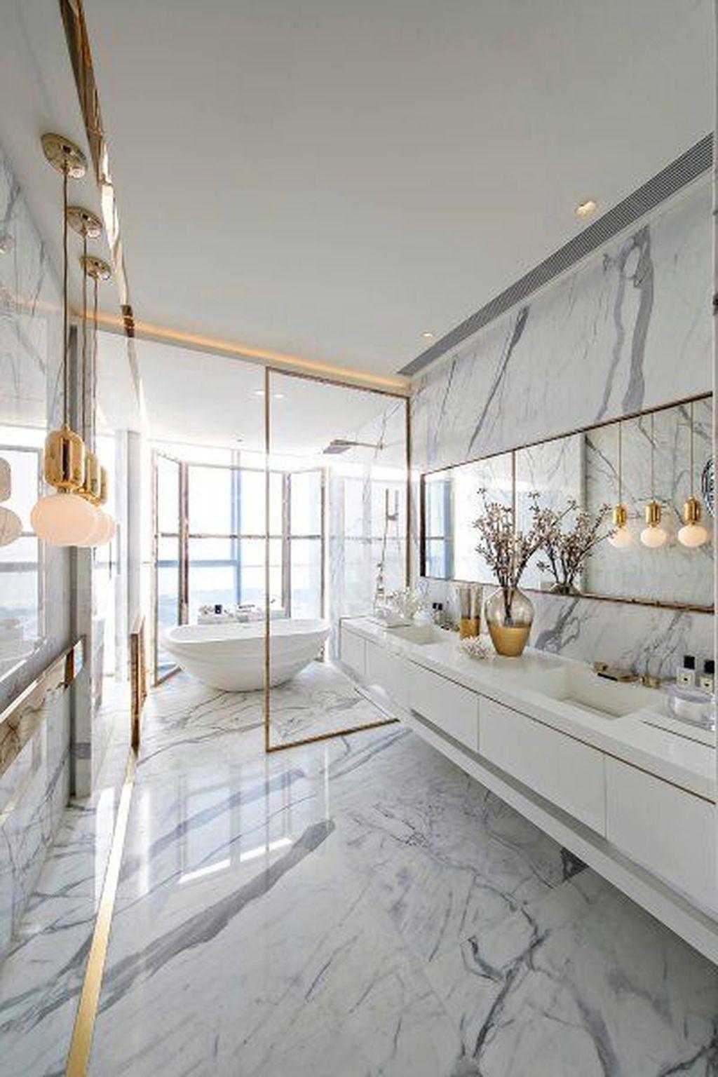 44 Popular Modern Contemporary Bathroom Design Ideas To Make Luxurious Look Contemporary Home Decor Bathroom Interior Design Modern Interior Design