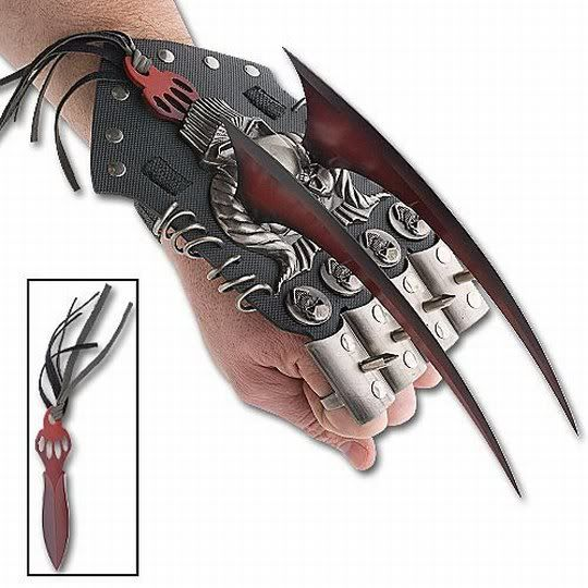 Red Spiked Hand Claws w Knuckle Guards | diff weapons ...