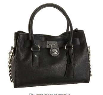 Michael Kors E W Satchel Shoulder Bag Black With Silver Hardware