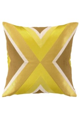 Beautiful texture and luxurious fabrics make this retro-colored pillow a must-have!