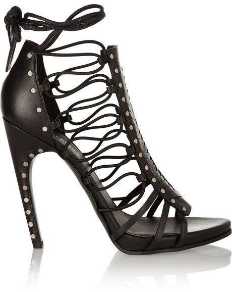 Emilio Pucci Woven leather sandals