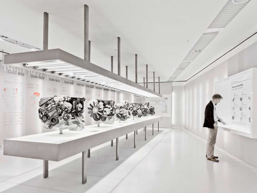 Exhibition Room D : Exhibition room inside the bmw museum in munich by atelier
