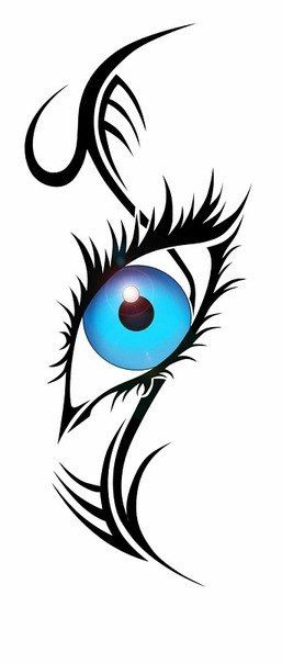 34d9571661124 Blue Eye Tribal Tattoo Design | tatoos | Tribal tattoos, Tribal ...