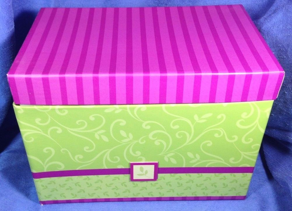 Contemporary storage box green pink paper large recipe coupon contemporary storage box green pink paper large recipe coupon greeting pmg inc pmginc contemporary m4hsunfo