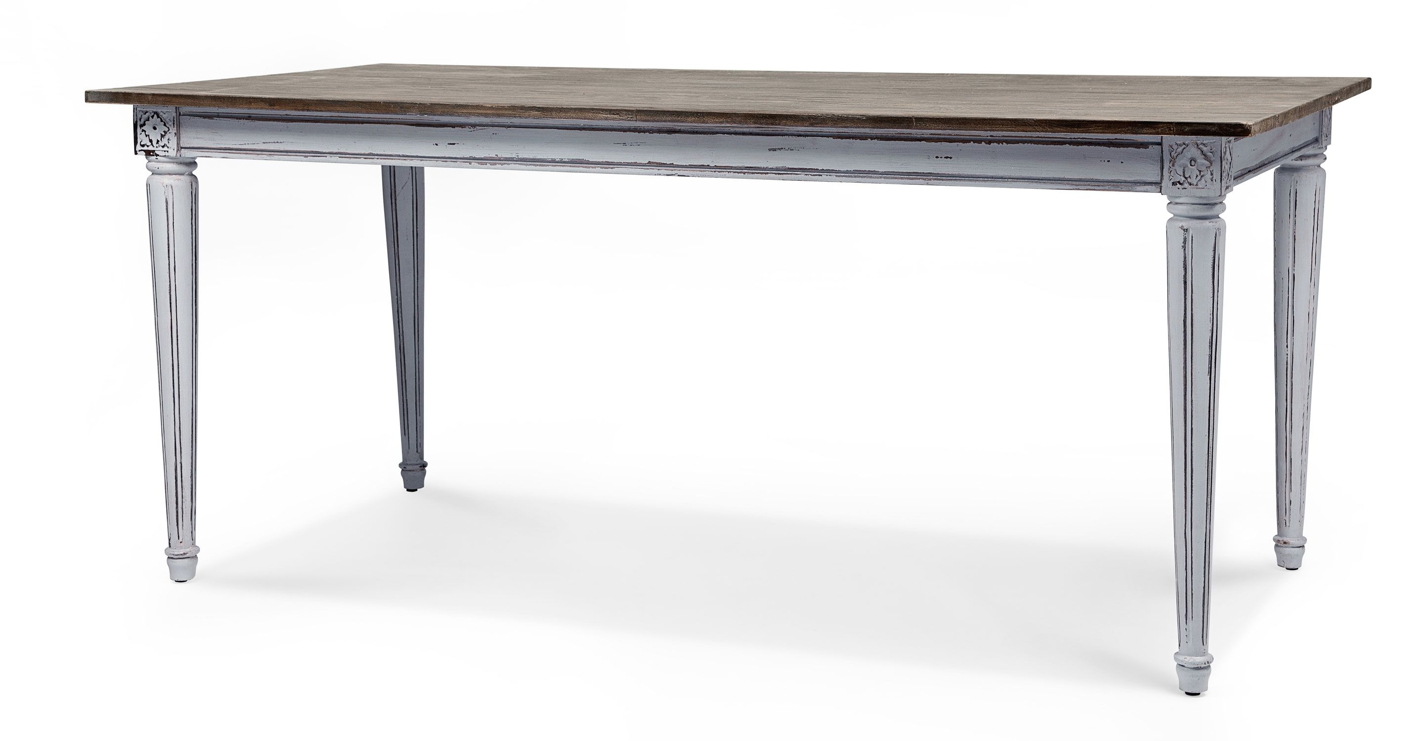 Bourbon Vintage Dining Table Distressed Grey Vintage Dining Table Dining Table In Kitchen Dining Table Design