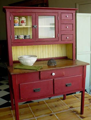 Superior Antique Kitchen Cabinets. Antique Kitchen CabinetsAntique HutchRed ...