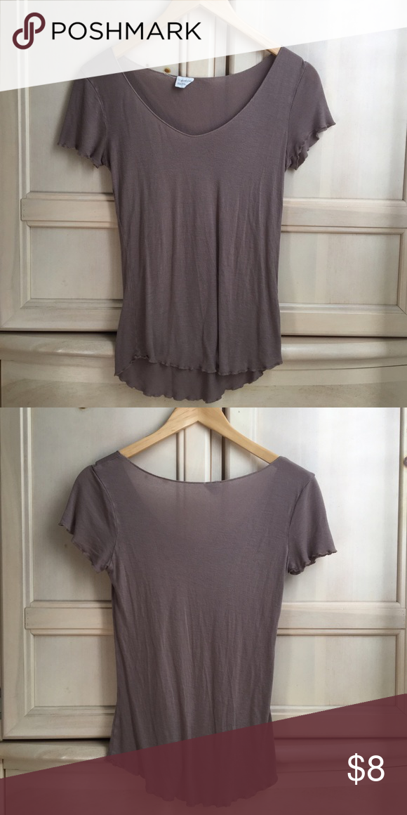 Tilly's Scoop Neck Tee Tan scoop neck tee, super cute and goes with any outfit! 🌼 Tilly's Tops Blouses