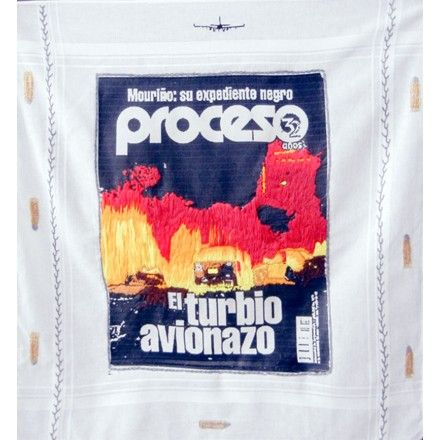 #MónicaIturribarría artista Visual,  Avionazo #Muriño #Proceso #embordery #art #artistaVisual #embordery #art  #textil #transfer #drugwar #handkercchief #1/40,000  #bordandoporlapaz #Festival #apart #Alpilles #Provenceart