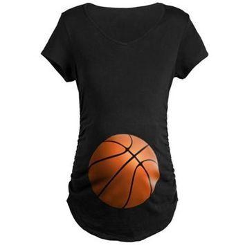 Basketball Maternity T-Shirt