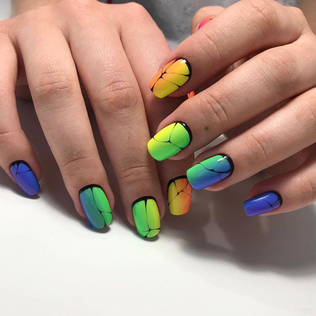 45 Incredible Nail Arts That Look More Hotter Than Your Old One Modern Nail Art Nail Arts Cool Nail Art
