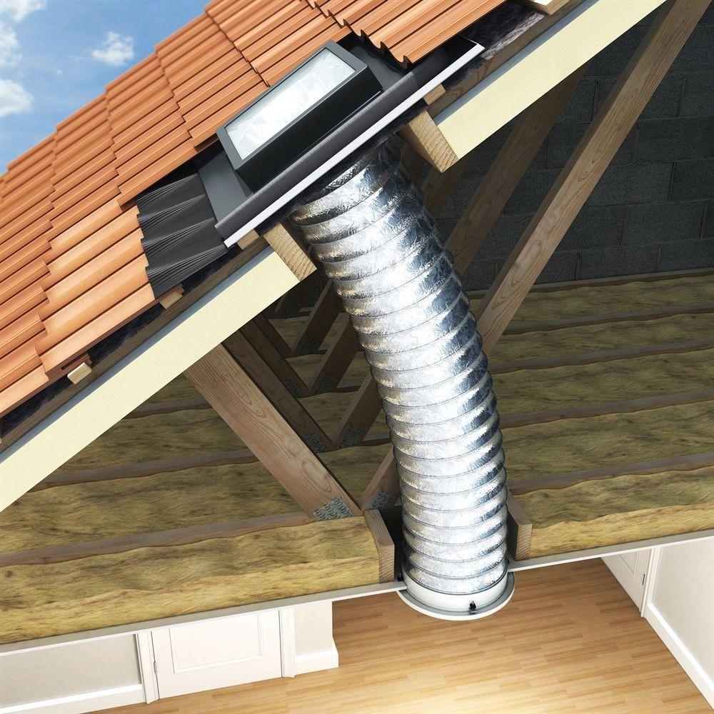 450mm Flexible Sun Tunnel With 3m Tube For Tile Roofs Sterlingbuild Roof Light Sun Tube Roof Lantern