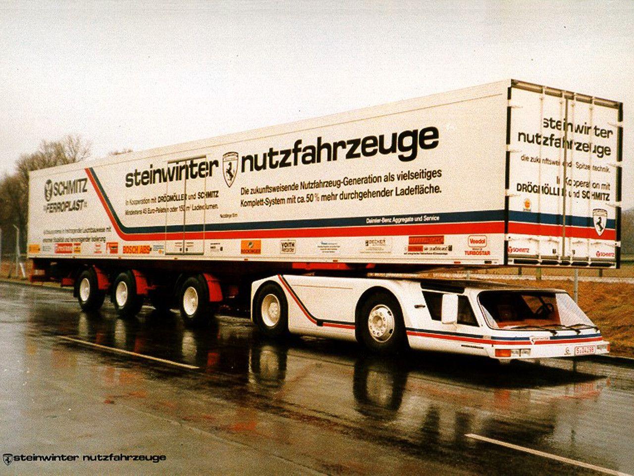Steinwinter Konzept Lkw Vision Von 1983 Autozeitung De Nutzfahrzeuge Lkw Fahrzeuge