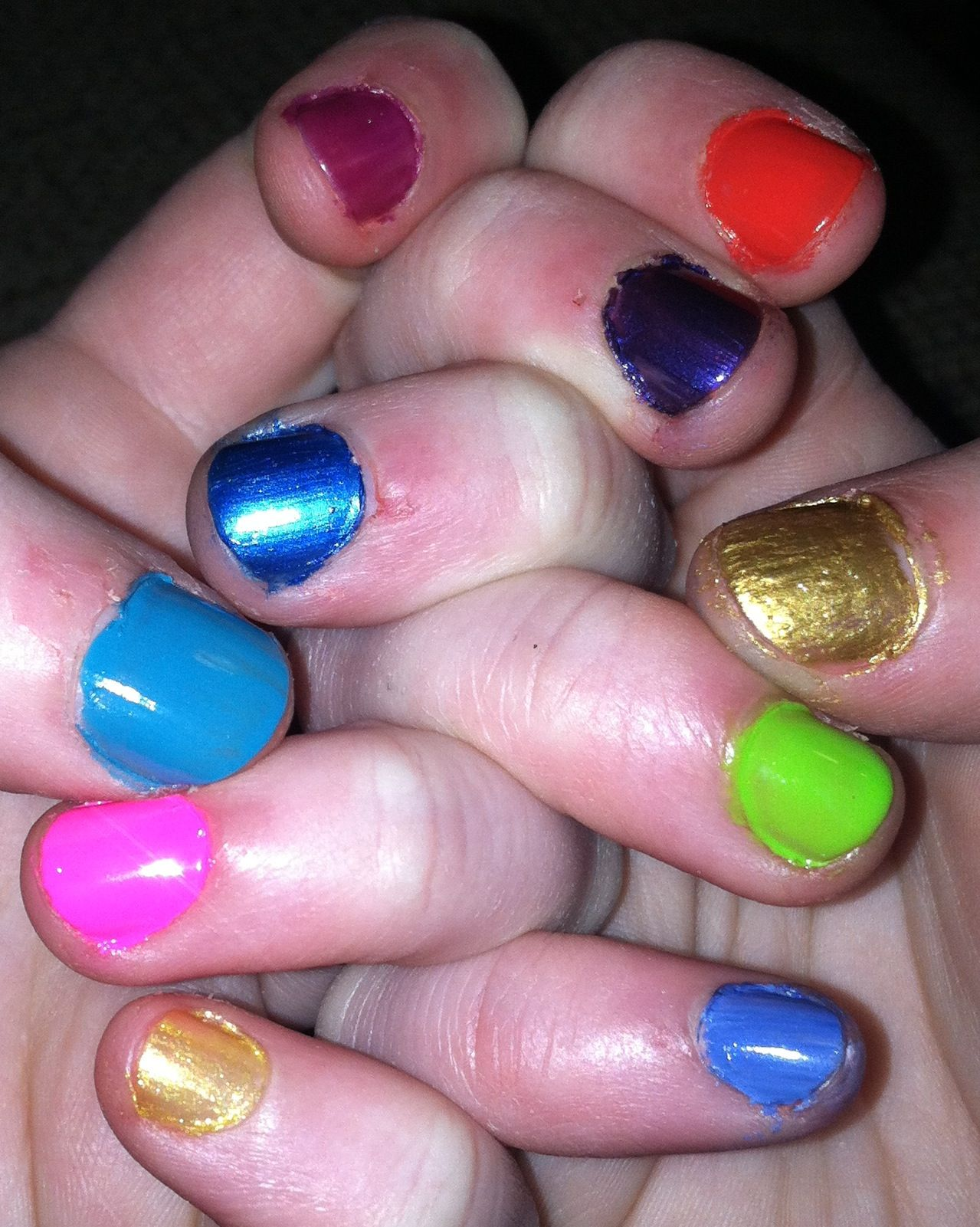Colorful nails for backtoschool!