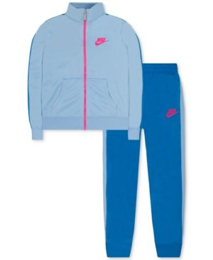 Nike 2-Pc. Track Suit, Toddler & Little Girls (2T-6X) - Blue 3T