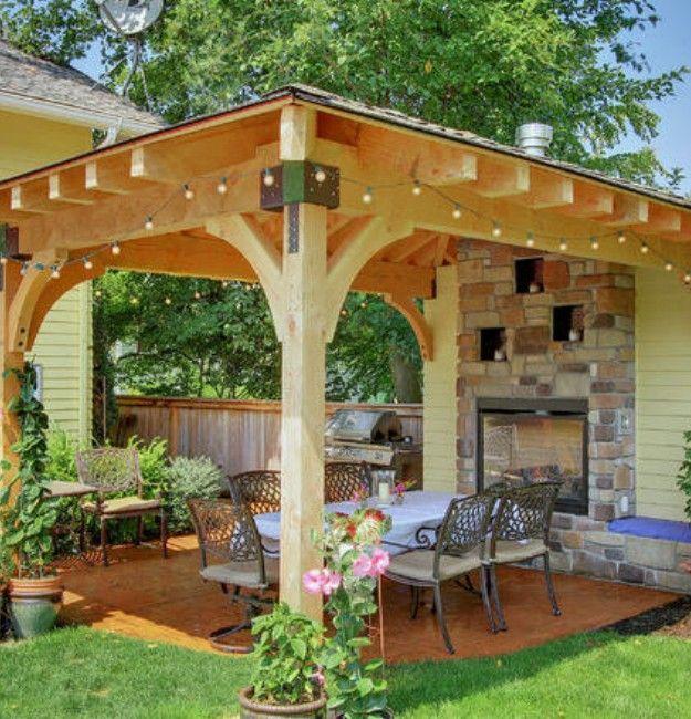 Square Gazebo Plans Backyard Patio Designs Small Backyard Patio