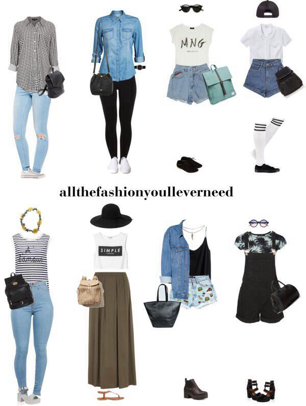 Summer school outfit ideas! allthefashionyoulleverneed.tumblr.com