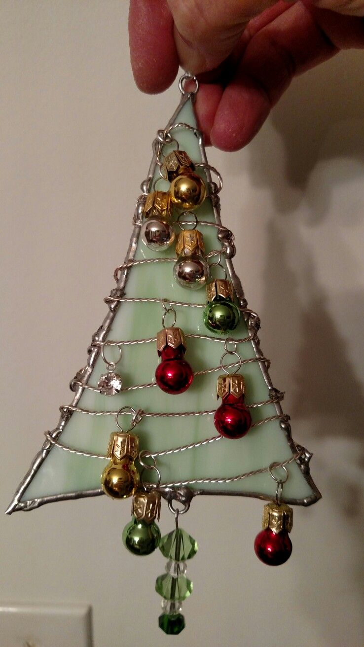 Stained Glass Christmas Tree Ornament Stained Glass Christmas Stained Glass Ornaments Stained Glass Crafts