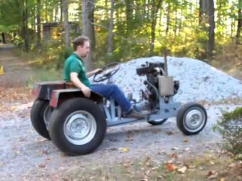 Homemade Tractor From Junk Car Parts Homemade Tractor Tractors Tractor Idea