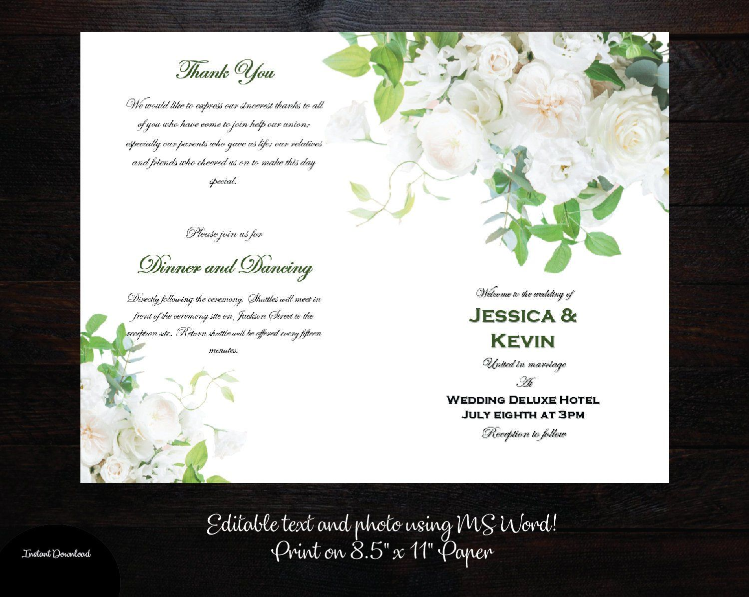 This Item Is Unavailable Etsy Printable Wedding Programs Printable Wedding Program Template Wedding Programs Template Microsoft office wedding program template