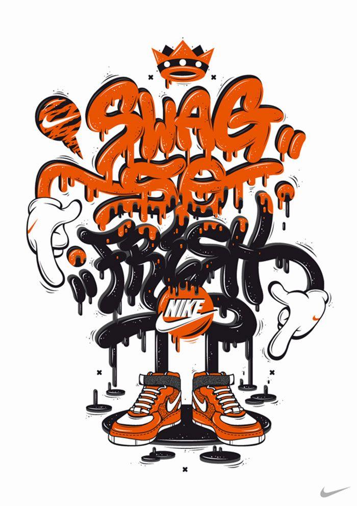 brand new c2b46 c1605 Lettering para Nike por DXTR. Lettering para Nike por DXTR Character  Illustration, Graphic Design Illustration, Illustration Art ...