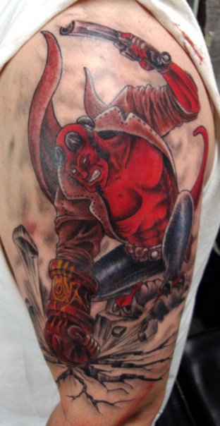 hellboy tattoo