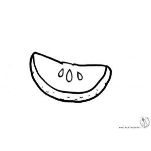 Disegno Di Spicchio Di Limone Da Colorare Disegni Di Alimenti Da