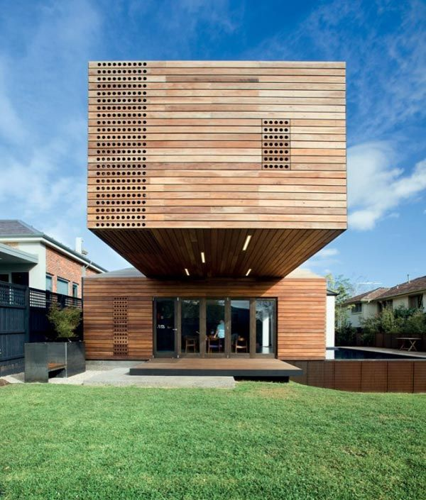 Modern Timber Home Cool Wood Addition Timber house Modern
