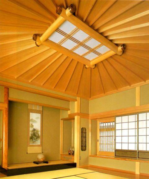 天井材 和風 洋風 格天井 折上格天井 中喜 床柱 肥松前丸 床材