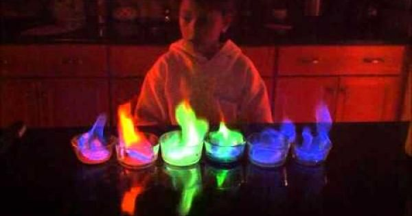 5th Grade Science Project Rainbow Flame Wow Chemistry Science