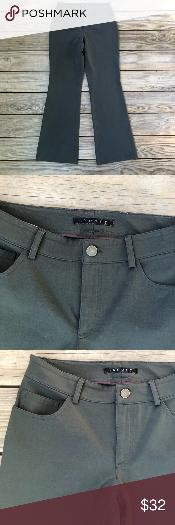 Theory Pants Theory Pants. One tiny spot that is almost unnoticeable. -see photo. Thanks for shopping my closet Theory Pants
