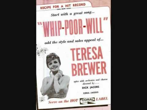 Teresa Brewer - Whip-Poor-Will (1961) - YouTube
