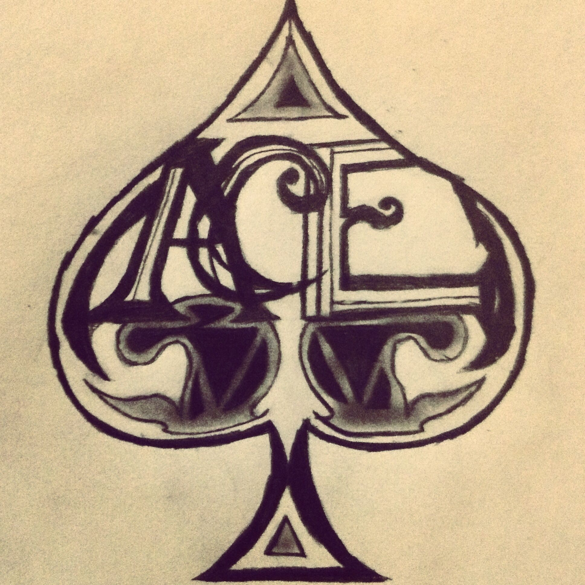 Ace of spades drawing