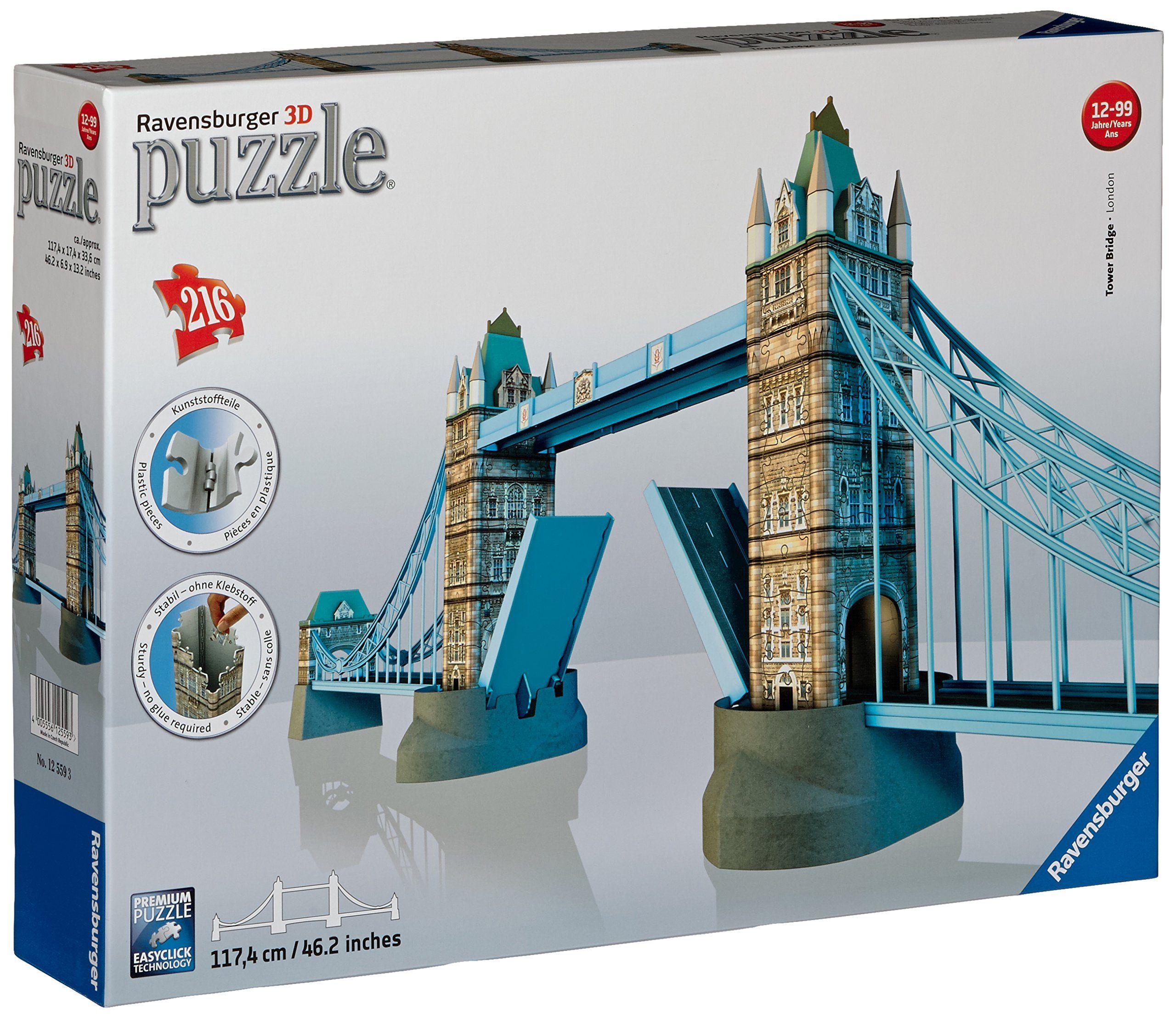 Ravensburger Tower Bridge 3d Puzzle Toys Games Tower Bridge London Tower Bridge Ravensburger Puzzle
