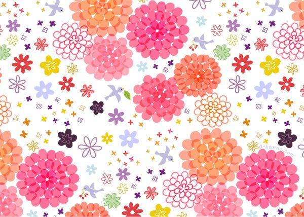 パターンイラスト 花柄 アトリエ ハンナ 花 イラスト 花柄 イラスト 花 イラスト かわいい