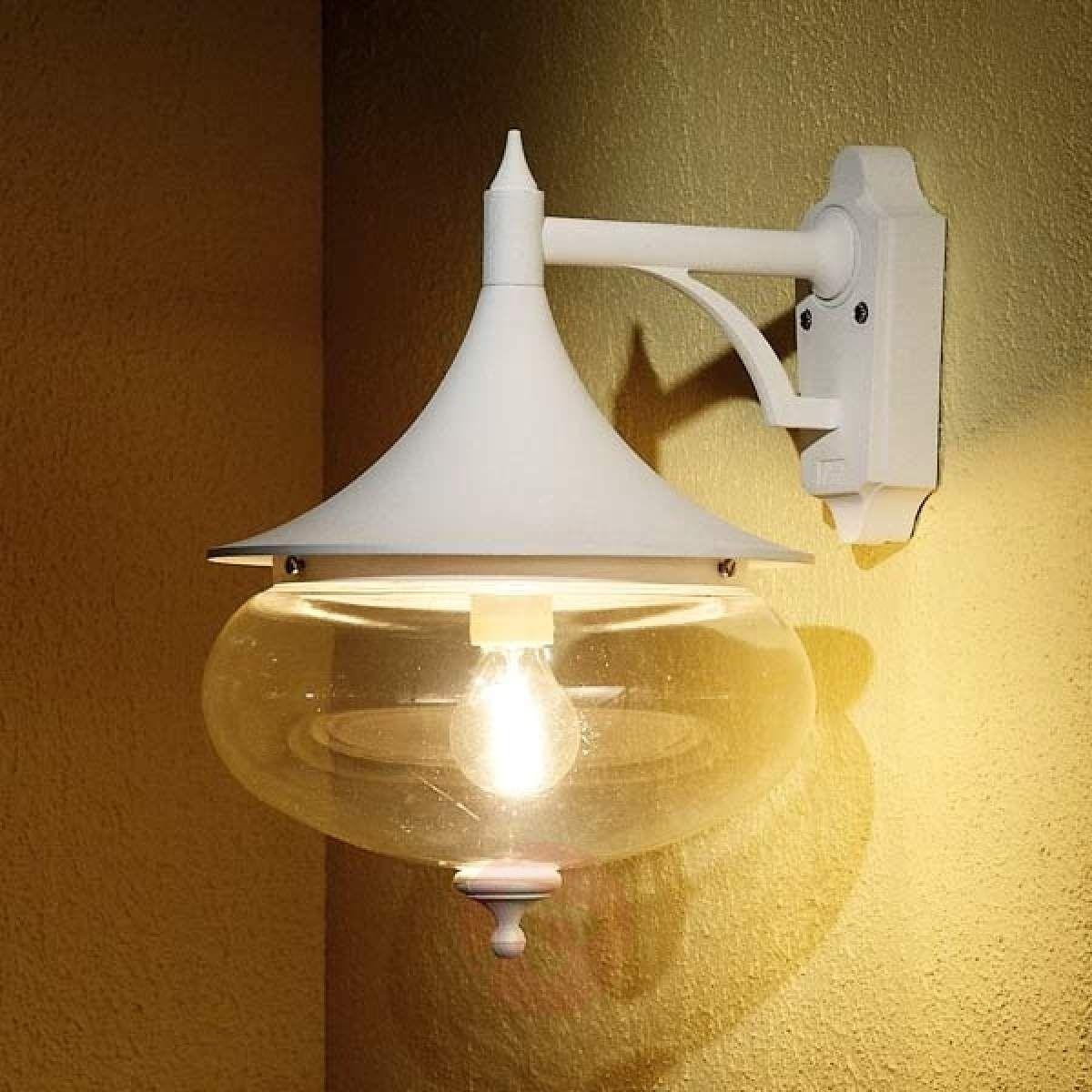 Piękna Zewnętrzna Lampa ścienna Libra Biały Lampy Wiszące