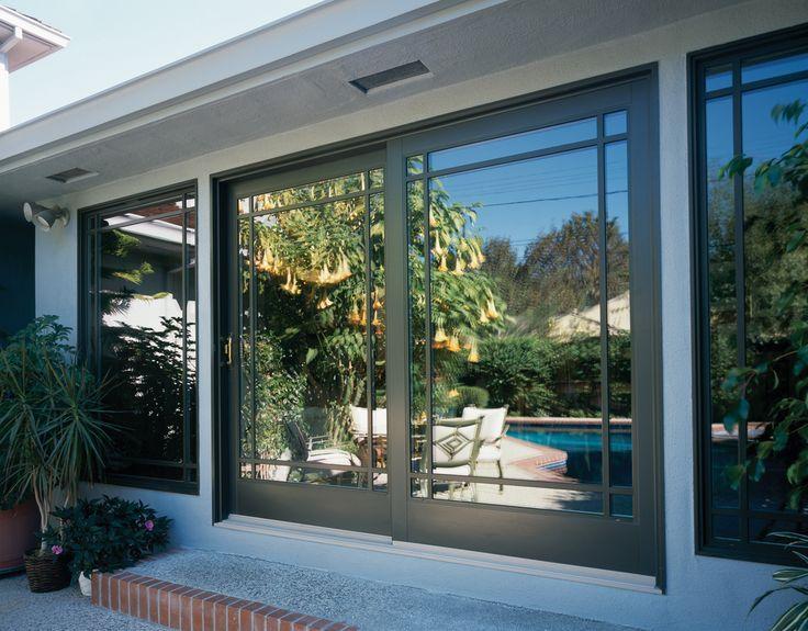 Perimeter Grids On Sliding Doors A New Way To Design The French Door Patio Windows Sliding Patio Doors French Doors